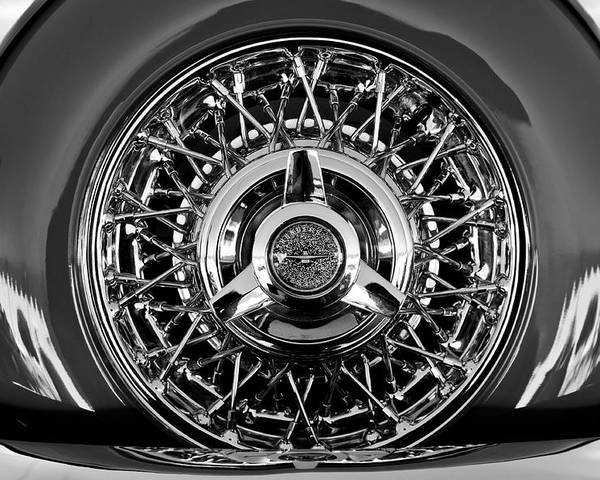 1960 Ford Thunderbird Poster featuring the photograph 1960 Ford Thunderbird Spare Tire 2 by Jill Reger
