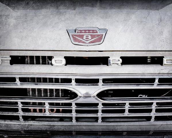 1966 Ford F100 Grille Emblem -113ac Poster