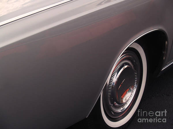 Lincoln Poster featuring the photograph 1968 Vintage Lincoln Sedan Fender by Anna Lisa Yoder