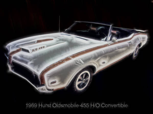 Electric Images Poster featuring the digital art 1969 Hurst Oldsmobile 455 Ho Electric by Chris Flees