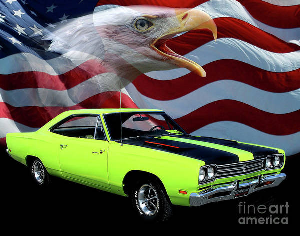 1969 Plymouth Roadrunner Poster featuring the photograph 1969 Plymouth Road Runner Tribute by Peter Piatt