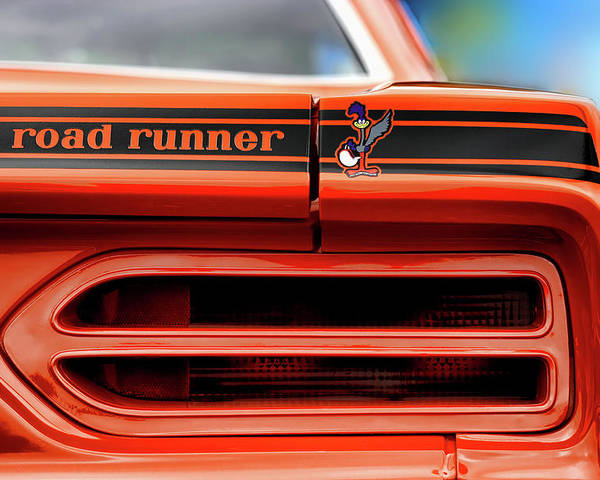 1970 Poster featuring the photograph 1970 Plymouth Road Runner - Vitamin C Orange by Gordon Dean II