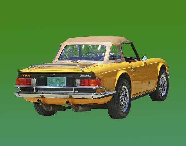 1974 Triumph T R 6 Poster By Jack Pumphrey