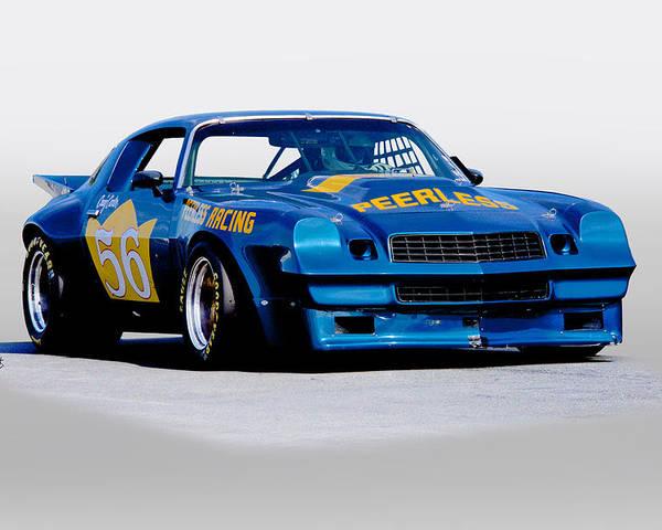 1978 Camaro Gt Vintage Racecar Poster