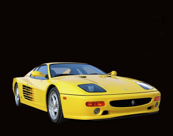 Photography Art By Sports Car Artist Jack Pumphrey Of A 1995 Ferrari 512m Russo Red Ferrari Poster featuring the photograph 1995 Ferrari F512m by Jack Pumphrey