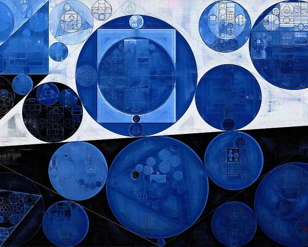 Fantastic Poster featuring the digital art Abstract Painting - Yale Blue by Vitaliy Gladkiy