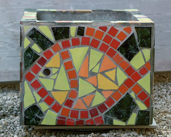 Mosaics Poster featuring the sculpture Aquarium by Vladimir Kozma