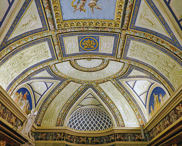 Vatican Poster featuring the photograph Artistic Ceilings Within The Vatican Museums In The Vatican City by Richard Rosenshein