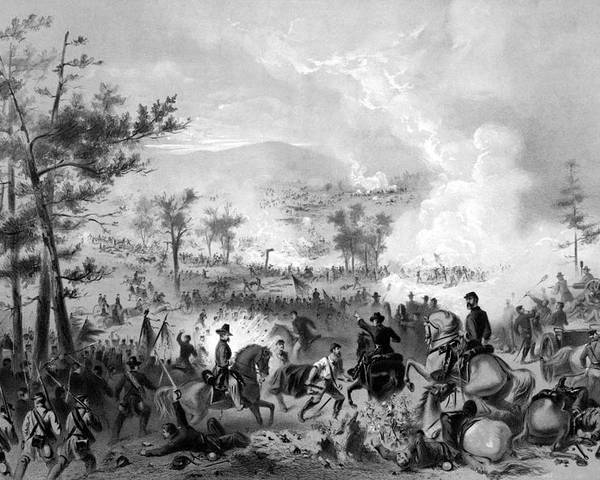 Gettysburg Poster featuring the drawing Battle Of Gettysburg by War Is Hell Store