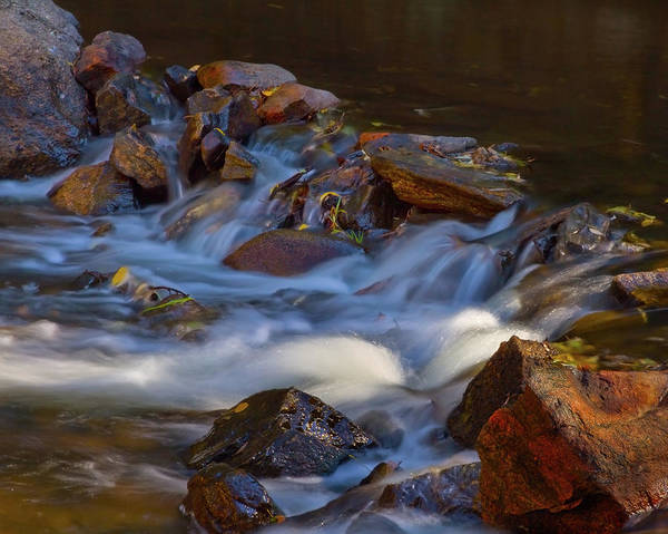 Autumn Poster featuring the photograph Bear Creek Waterfalls by Crystal Garner