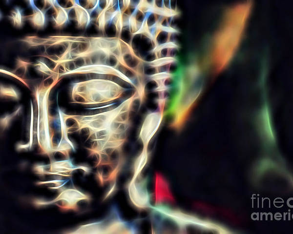 Buddah Poster featuring the mixed media Buddah Collection by Marvin Blaine