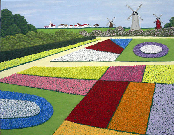 Landscape Paintings Poster featuring the painting Dutch Gardens by Frederic Kohli