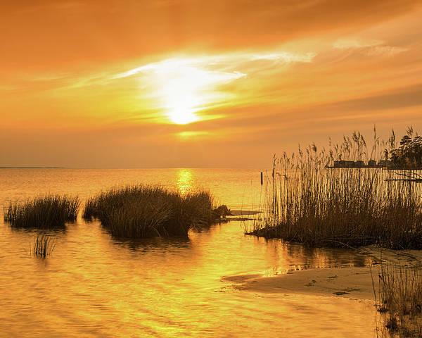 Sunset Poster featuring the photograph Golden Hour by Robert Mullen
