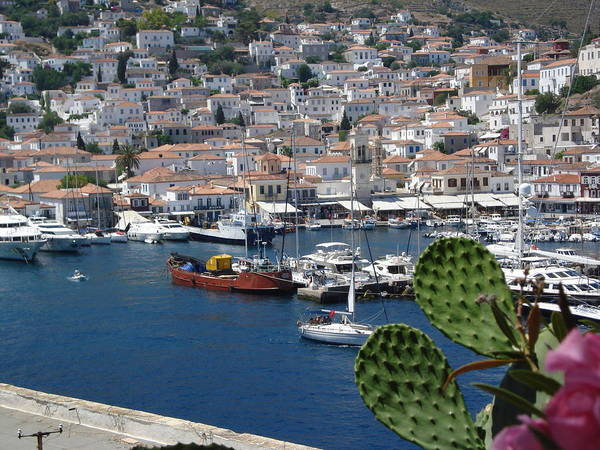Poster featuring the photograph Hydra Island by Helen Tomprou