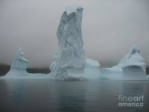 Icebergs Newfoundland Poster featuring the photograph Icebergs by Seon-Jeong Kim