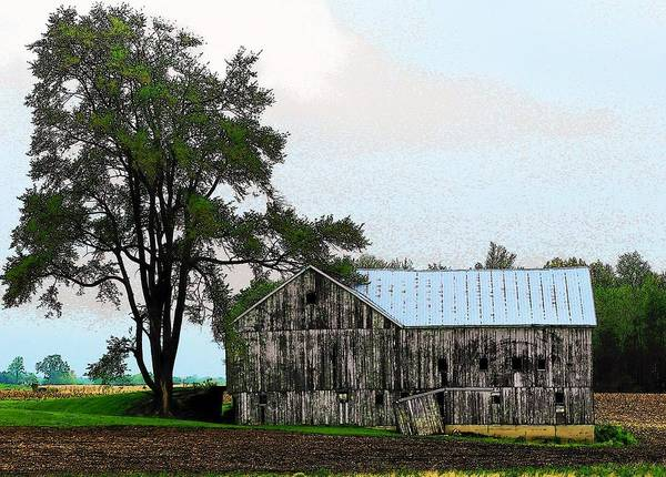 Barn Poster featuring the photograph Indiana Barn by Joyce Kimble Smith