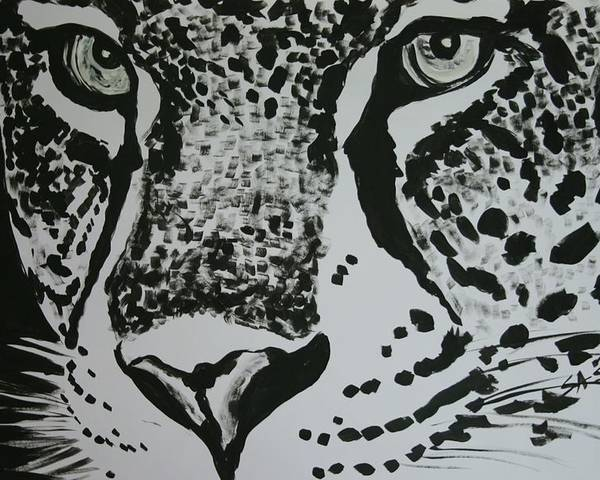 Cat Poster featuring the painting Jaguar by Sasa Delic
