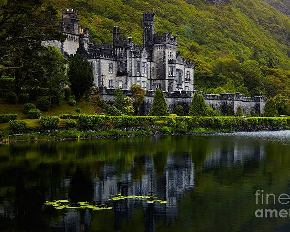Ireland Poster featuring the photograph Kylemore Abbey by Gabriela Insuratelu