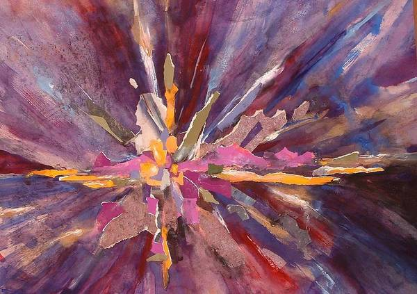 Creation Poster featuring the mixed media Let There Be Light by Joan Jones