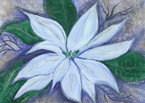 Poinsettia Poster featuring the painting Midnight Poinsettia by Carey Waters