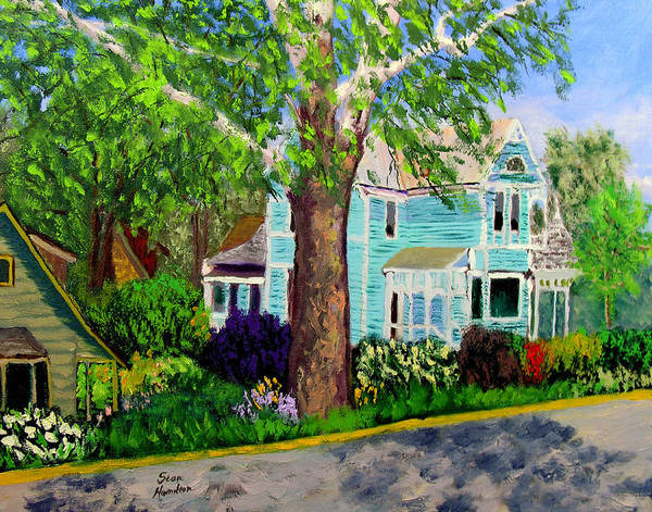 Plein Air Poster featuring the painting Nashville House by Stan Hamilton