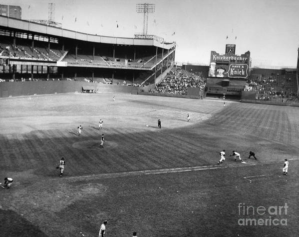 1957 Poster featuring the photograph New York: Polo Grounds by Granger