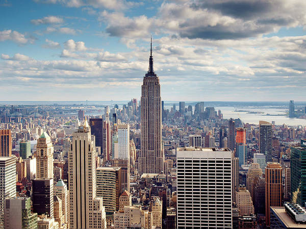 Ny Poster featuring the photograph Nyc Empire by Nina Papiorek