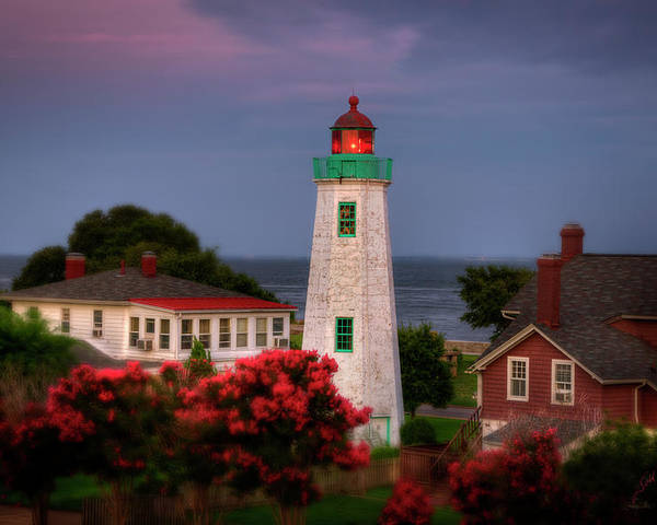 Old Point Comfort Lighthouse Poster featuring the photograph Old Point Comfort Lighthouse by Williams-Cairns Photography LLC