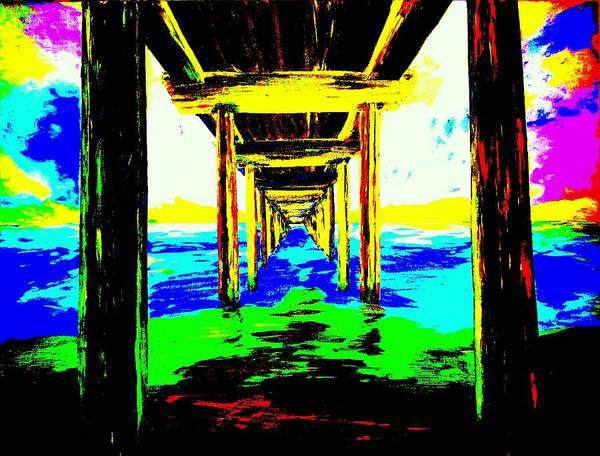 Most Popular Poster featuring the painting Old Wooden Pier by Irving Starr