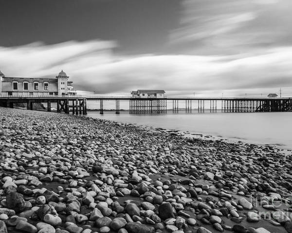 Penarth Pier Poster featuring the photograph Penarth Pier 5 by Steve Purnell