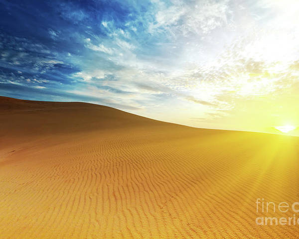 Sand Poster featuring the photograph Sandy Desert by MotHaiBaPhoto Prints