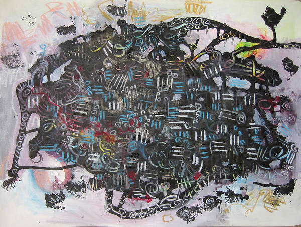 Abstract Poster featuring the painting Spring Fever6 by Seon-Jeong Kim