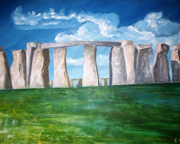 Stonehenge. Uk. Britain. Poster featuring the print Stonehenge by Carl Lucia