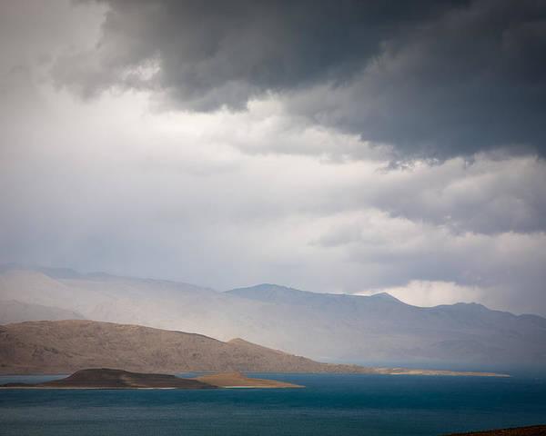 Beautiful Poster featuring the photograph Storm On Karakul Lake by Konstantin Dikovsky