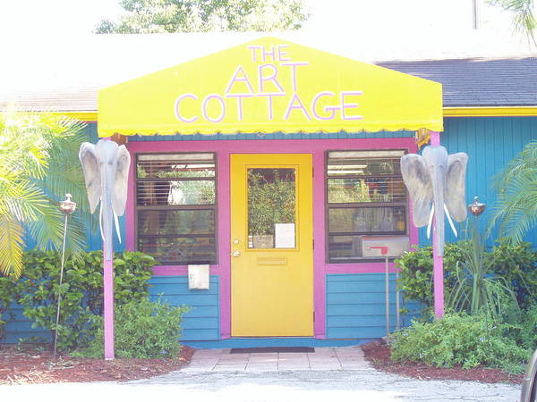 Poster featuring the photograph The Art Cottage by Ellen Burns