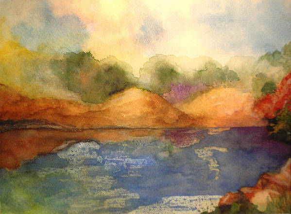 Landscape Poster featuring the painting Whimsy by Vivian Mosley