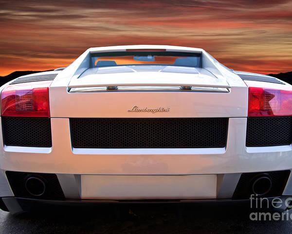 2004 Lamborghini Gallardo Rear View Poster By Dave Koontz