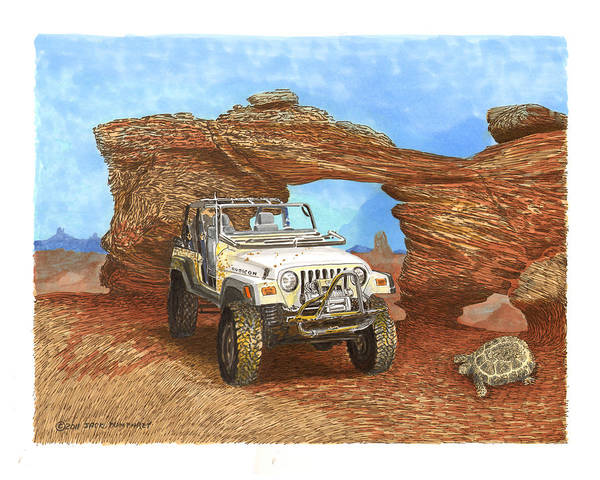 F2005 Jeep Rubicon 4 Wheeler Poster featuring the painting 2005 Jeep Rubicon 4 Wheeler by Jack Pumphrey