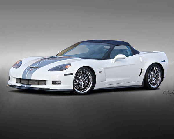 Auto Poster featuring the photograph 2014 Corvette Zo6 Convertible by Dave Koontz