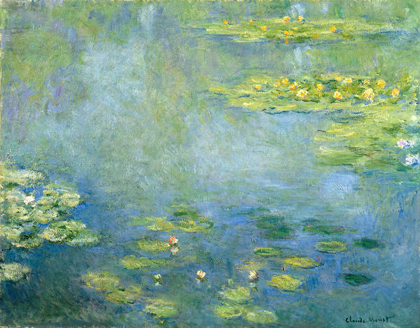 Claude Monet Poster featuring the painting Waterlilies by Claude Monet