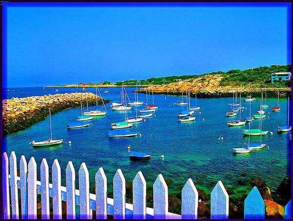 Seascape Poster featuring the photograph 2381 Rock Harbor by Ed Immar