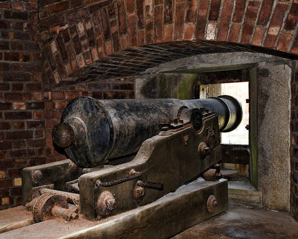 Old Fort Niagara Poster featuring the photograph 24 Pounder Cannon by Peter Chilelli