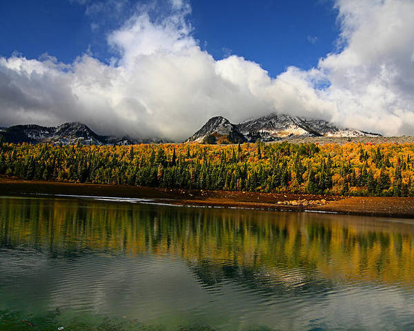 Autumn Poster featuring the photograph Mountain Lake by Mark Smith