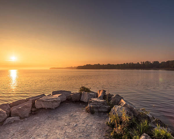 Sunrise Poster featuring the photograph Sunrise At Sibbald Point by Aqnus Febriyant
