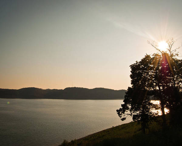 Lake Poster featuring the photograph Lake Cumberland Sunset by Amber Flowers
