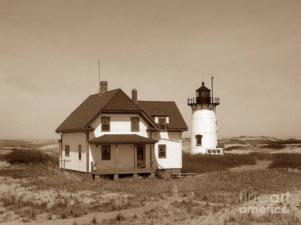 Lighthouses Poster featuring the photograph Race Point Lighthouse by Skip Willits