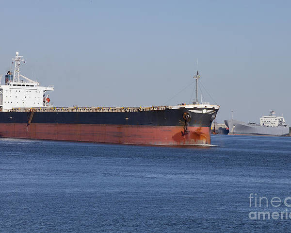 Transportation Poster featuring the photograph Shipping - New Orleans Louisiana by Anthony Totah