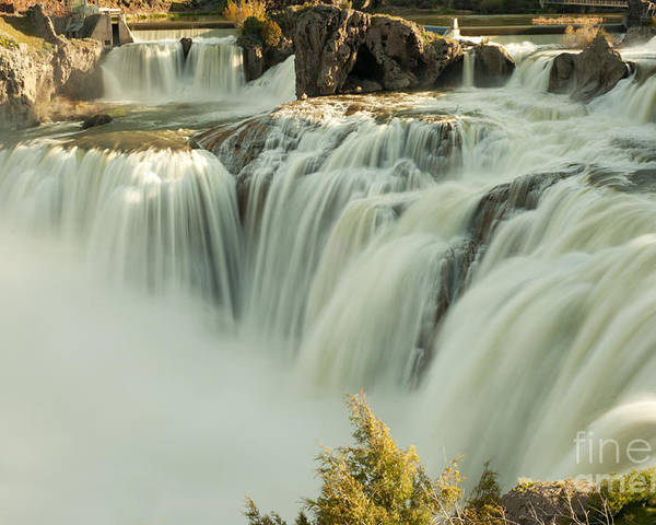 Waterfall Poster featuring the photograph Shoshone Falls by Dennis Hammer