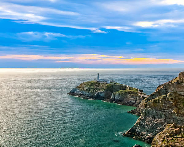 Acrylic Poster featuring the photograph South Stack Lighthouse by Gary Finnigan