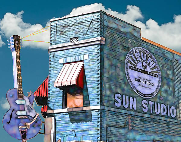Elvis Art Poster featuring the mixed media Sun Studio Collection by Marvin Blaine